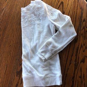 Loft white sweater XS